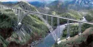 आयफेल टॉवरपेक्षाही उंच रेल्वे पूल जम्मू काश्मीरमध्ये