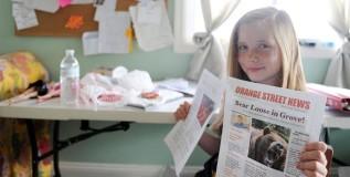 अवघ्या ९ वर्षाची मुलगी चालवते वृत्तपत्र
