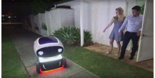 घरापर्यंत सामान पोहोचविणारे डिलिव्हरी रोबो
