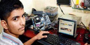 नववी नापास मुलाने बनविला भंगारातून संगणक