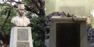 संभाजी ब्रिगेडने हटवला रा. ग. गडकरींचा पुतळा