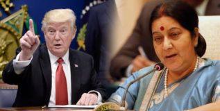 ट्रम्प नितीमुळे भारतीय उद्योजकाला अटक; सुषमा स्वराजकडे मागितली मदत