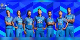 नव्या रंगात टीम इंडिया