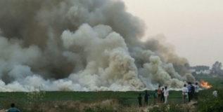 होय, पाण्यात लागली आग…प्रदूषणामुळे!