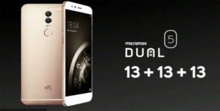 मायक्रोमॅक्सचा ड्युअल ५ स्मार्टफोन लॉन्च