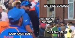 पाकड्या क्रिकेटचाहत्याला भारतीयांनी झोडपले