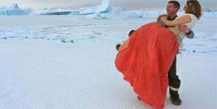 अंटार्टिका ध्रुवावर झाले शुभमंगल