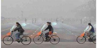 स्मॉग शोषणारी व स्वच्छ हवा बाहेर टाकणारी सायकल
