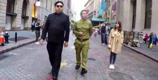 अमेरिकेच्या रस्त्यावर फिरतो आहे किम जोंग !