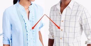 डाव्या बाजूलाच का असतात महिलांच्या शर्टची बटणे ?