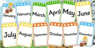इंग्रजी महिन्यांची नावे कशी पडली ?