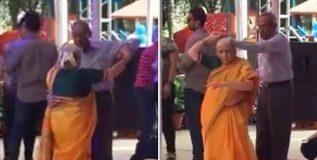 सोशल मीडियावर व्हायरल होत आहे आजी-आजोबांचा 'बॉल डान्स'