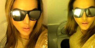व्हायरल; विमानाच्या टॉयलेटमध्ये राखी सावंतचे किकी चॅलेंज