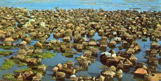 सरोवरात वसलेले गेनवी बनलेय पर्यटकांचे आकर्षण