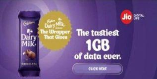५ रुपयांचे डेअरी मिल्क खा आणि १ जीबी डेटा मिळवा