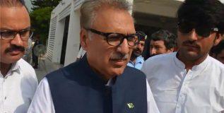संसदेच्या संयुक्त सत्राला संबोधित करताना पाक राष्ट्रपतींचा काश्मीर राग