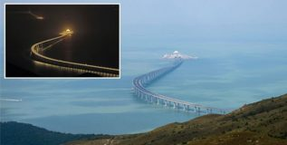 दक्षिण चीनमधील जगातील सर्वात लांब समुद्री पूल वाहतुकीसाठी खुला