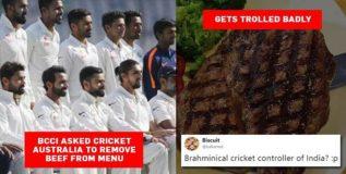 बीसीसीआयची ऑस्ट्रेलिया मंडळाकडे मागणी; टीम इंडियाच्या आहारात बीफ नको
