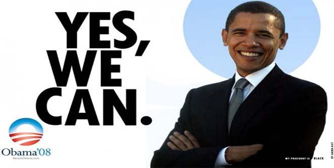 येस वुई कॅन ठरला ओबामांच्या विजयाचा नारा